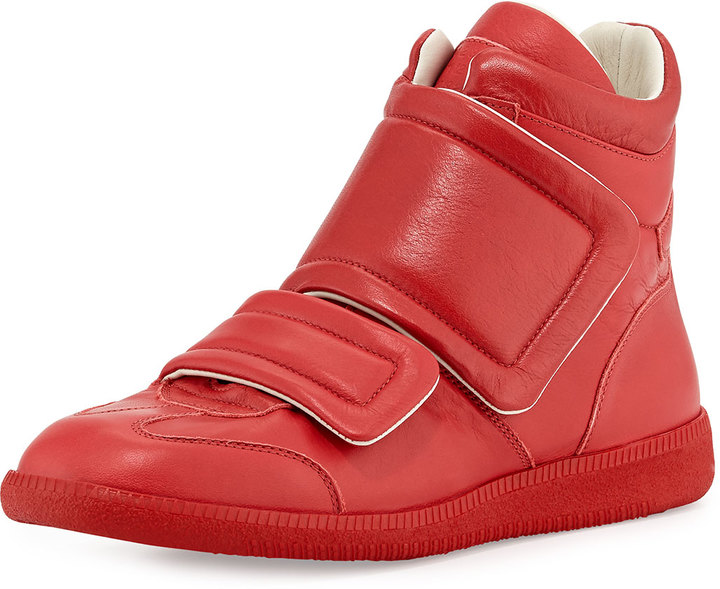... Maison Margiela Clinic Two Strap High Top Sneaker Red ... ffc26dea7
