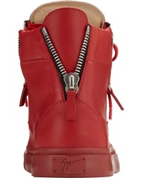 prada book bag - Prada Quilted Leather High Top Sneakers Red | Where to buy & how ...