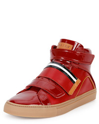 Herick leather high top sneaker red medium 578605
