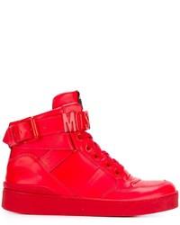 Moschino Logo Plaque Hi Top Sneakers
