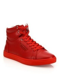 61efab6ed9 Salvatore Ferragamo Ground Hightop Leather Sneakers Out of stock · Dolce    Gabbana London High Top Sneakers