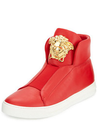 Palazzo idol leather high top sneaker red medium 699812