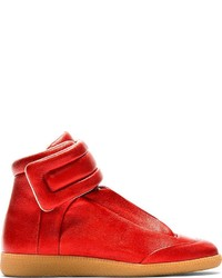 Maison Martin Margiela Red Future High Top Sneakers