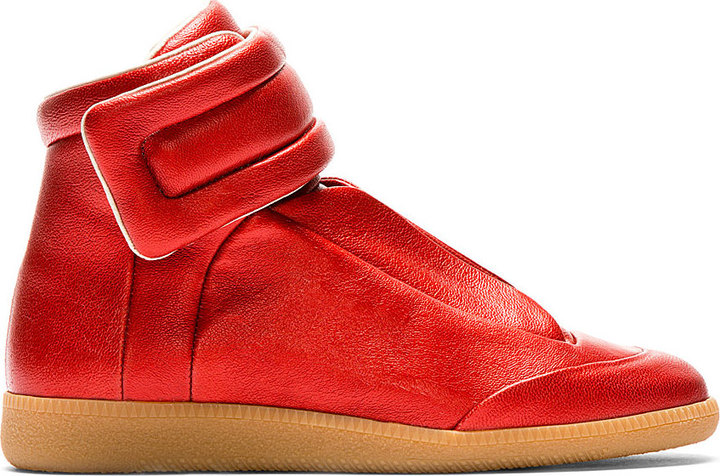 ... Maison Martin Margiela Red Future High Top Sneakers ... 371cff9be