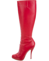 size 40 a0cad 15c71 Women's Red Leather Knee High Boots by Christian Louboutin ...