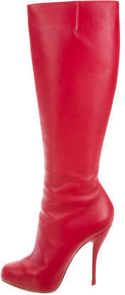 competitive price 76937 67a1a $650, Christian Louboutin Leather Botalili 120 Boots