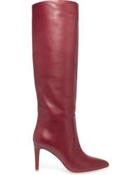 Gianvito Rossi Leather Knee Boots Crimson