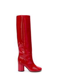 Maison Margiela Patent Knee High Boots