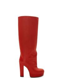 Gucci Red Britney Platform Boots