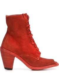 Guidi open toe lace up ankle boots medium 630551