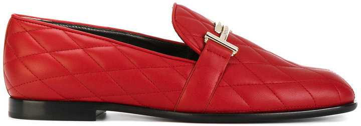 good out x new cheap buy online Tod's Double T Quilted Loafers, $565 | farfetch.com | Lookastic.com
