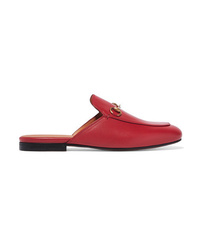 Gucci Princetown Horsebit Detailed Leather Slippers