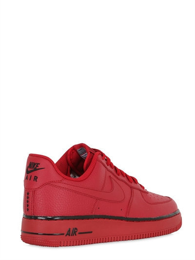 red leather air force 1