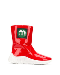 Miu Miu Logo Patch Boots