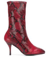 Stuart Weitzman Snakeskin Effect Heeled Boots