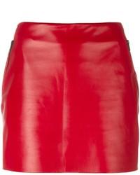 Barbara Bui Mini Leather Skirt