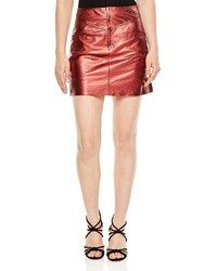 Sandro Music High Shine Mini Skirt