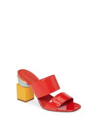 Salvatore Ferragamo Lotten Block Heel Slide Sandal