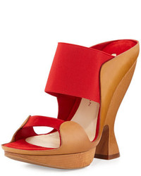 Sculpted high heel mule flame red medium 648228