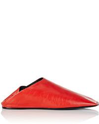 Balenciaga Square Toe Leather Mules