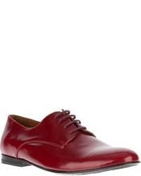 Red Leather Oxford Shoes