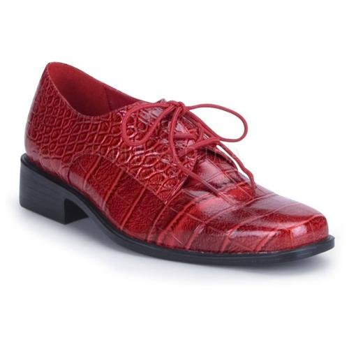 Pleaser Pimp Gangster Burgundy Red Alligator Patent Oxford Shoes ...
