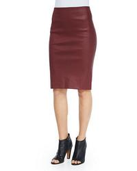 Vince Lamb Leather Pencil Skirt