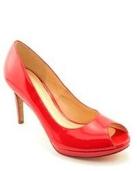 Cole Haan Chelsea Otpump Red Patent Leather Pumps Heels Shoes