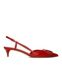 Valentino Red Garavani Vlogo Slingback Heels