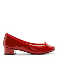 Repetto Red Patent Ballerina Heels