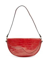 Topshop Demi Faux Leather Shoulder Bag