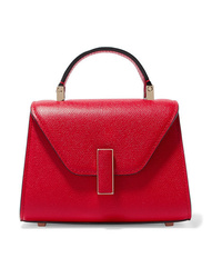 Valextra Iside Micro Textured Leather Shoulder Bag