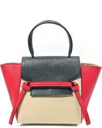 Leather Country Color Block Satchel