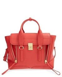 Medium pashli leather satchel grey medium 350995