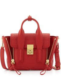 3.1 Phillip Lim Pashli Mini Leather Satchel Bag Red