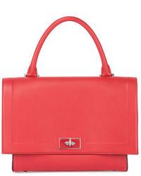 Givenchy Shark Waxy Leather Flap Top Satchel Bag