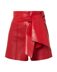 Valentino Bow Detailed Leather Shorts