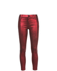Red Leather Skinny Jeans