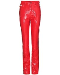 Marc Jacobs Faux Patent Leather Trousers