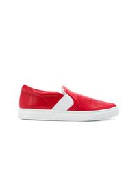 Lanvin Embossed Slip On Sneakers
