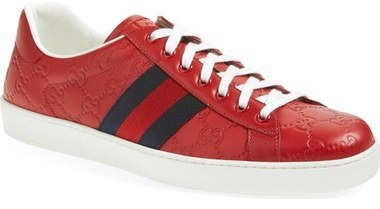 Gucci Red sneakers ... Red Leather Sneakers Gucci New Ace Sneaker ...