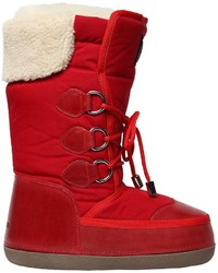 Nylon leather snow boots medium 4417342