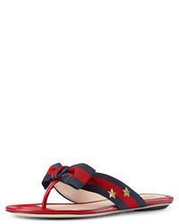 f939b2f47 ... Gucci Studded Grosgrain Web Thong Sandal Red