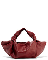 The Row Ascot Small Leather Tote Claret