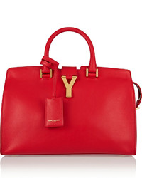 Saint Laurent Cabas Y Small Leather Tote