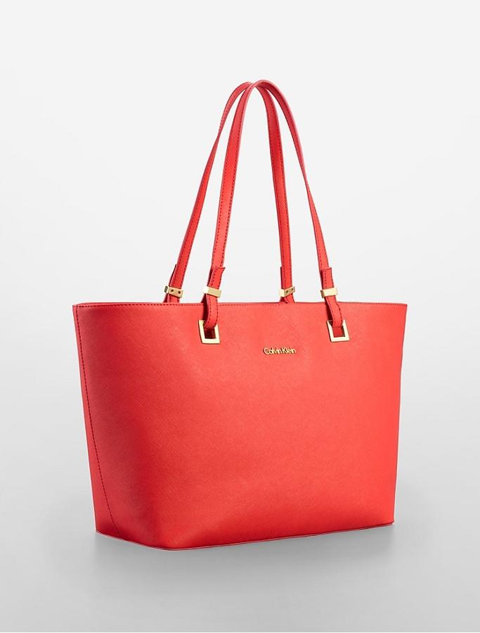 Calvin Klein Scarlett Saffiano Leather Shopper Tote | Where to buy ...