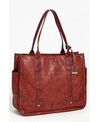 Campus leather shopper brown medium 619018
