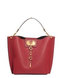 Valentino Garavani Go Logo Leather Hobo Bag