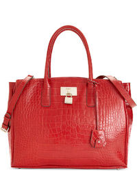 DKNY Gramercy Shiny Croco Work Shopper