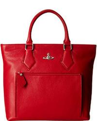 Vivienne Westwood Leather Shopper Bag Tote Handbags
